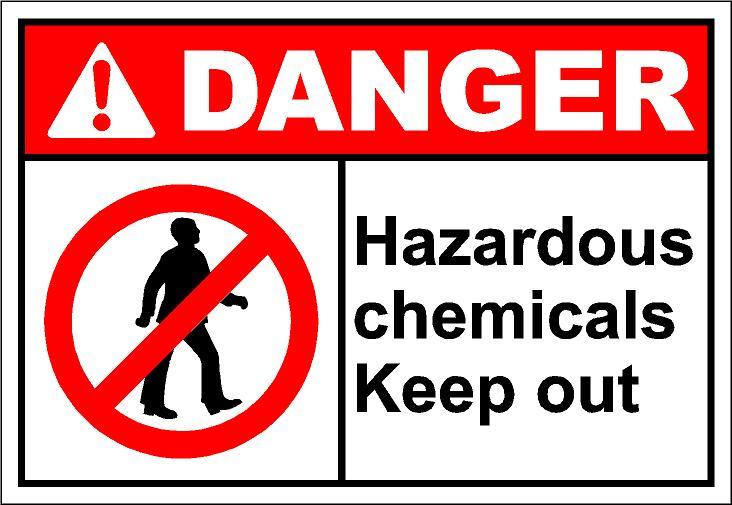 Hazardous Substances Clipart.