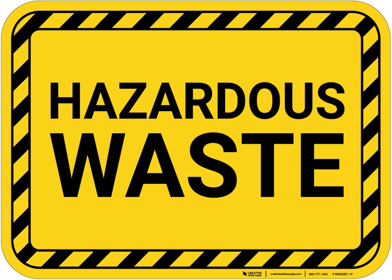 Hazardous Waste with Hazard Border Landscape.