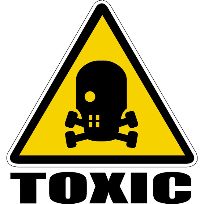 Toxic waste vector sign.