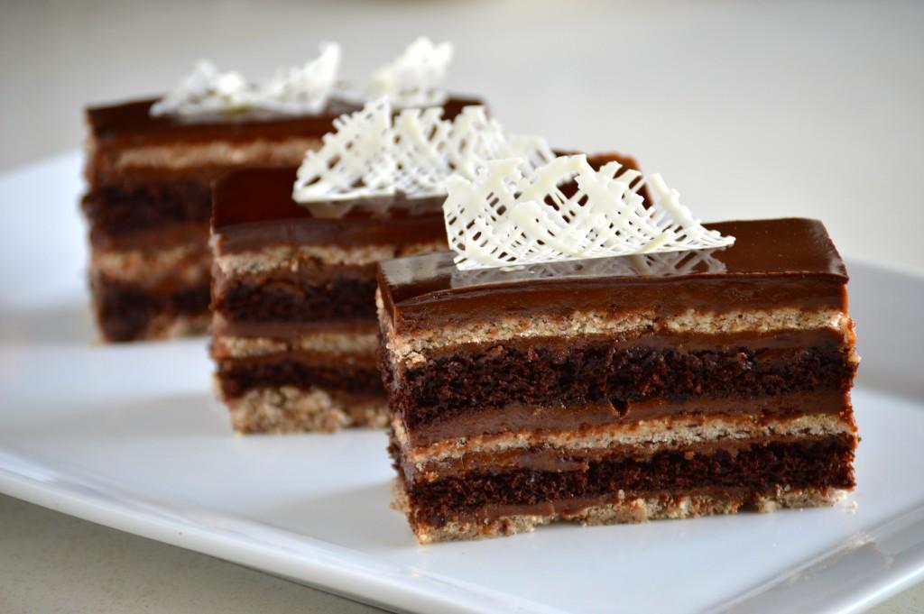 5 Layer Chocolate Hazelnut Cake.