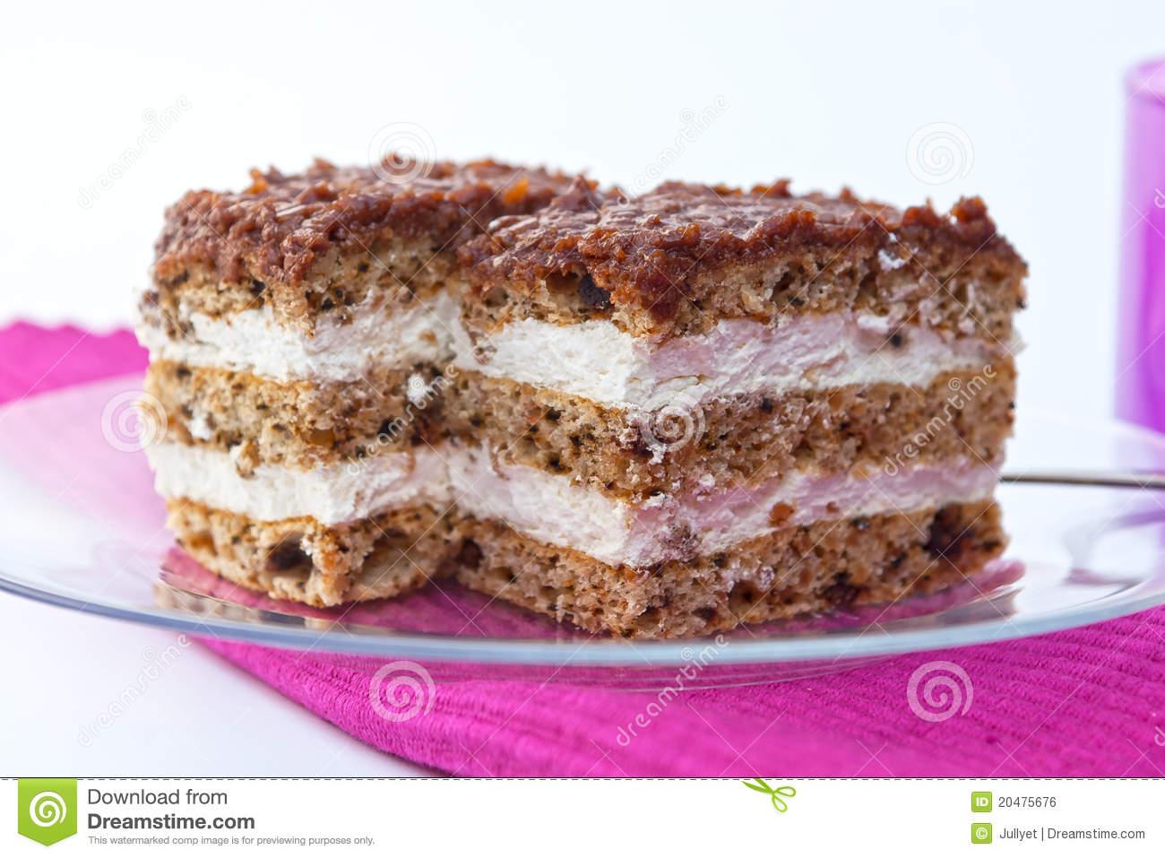 Hazelnut Cake Royalty Free Stock Image.