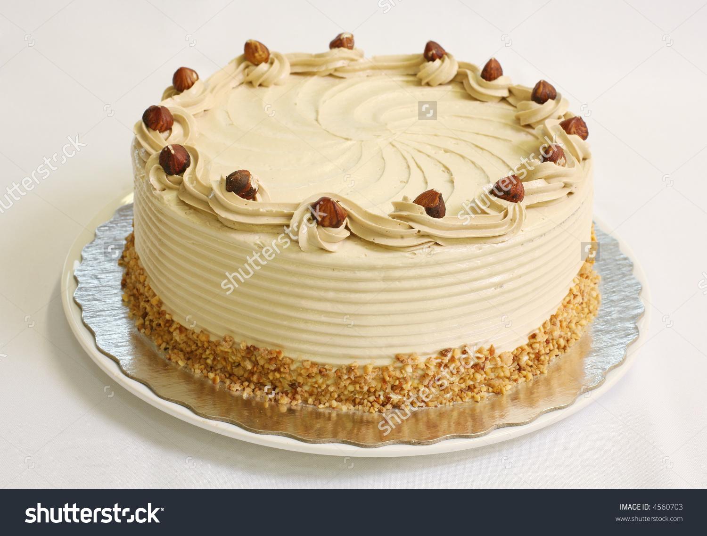 Hazelnut Cake Stock Photo 4560703.