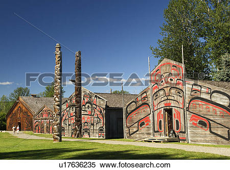 Stock Image of Ksan Historical Village and Museum, Hazelton.