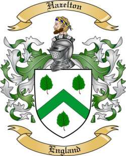Hazelton Family Crest from England by The Tree Maker.