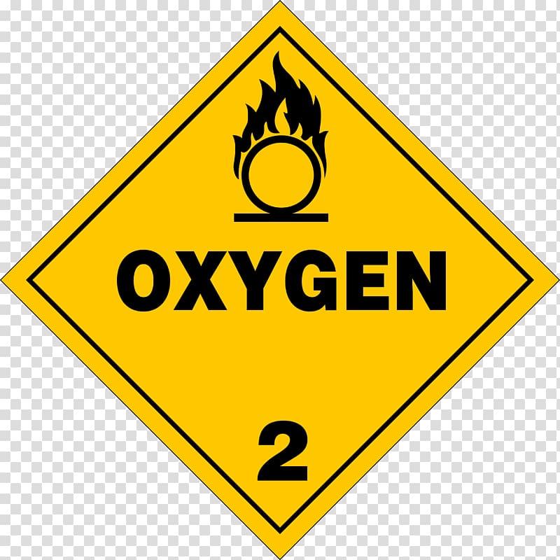 HAZMAT Class 2 Gases Oxygen Placard Dangerous goods, Oxygen s.