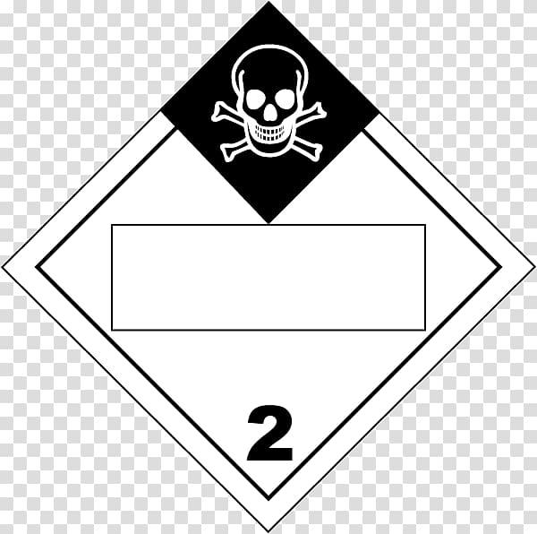 Dangerous goods Placard HAZMAT Class 2 Gases Combustibility.
