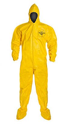 DuPont™ Tychem® QC Suit with Hood.