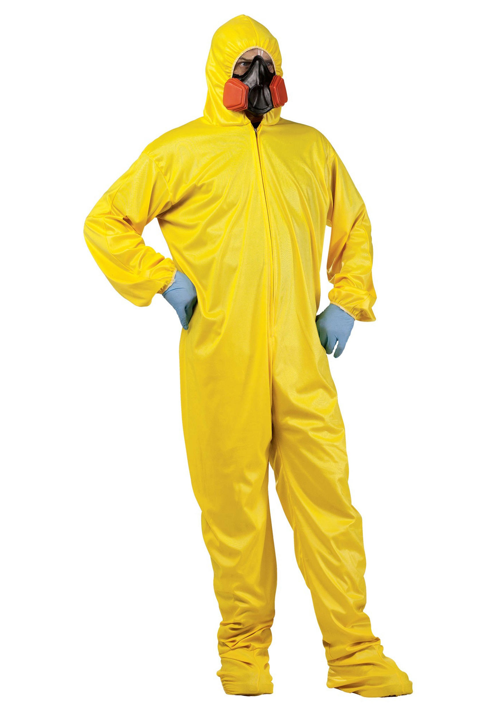HAZMAT Suit & Mask Costume.