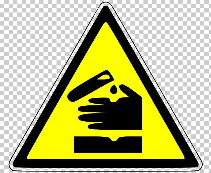 Hazard Symbol HAZMAT Class 8 Corrosive Substances Dangerous.