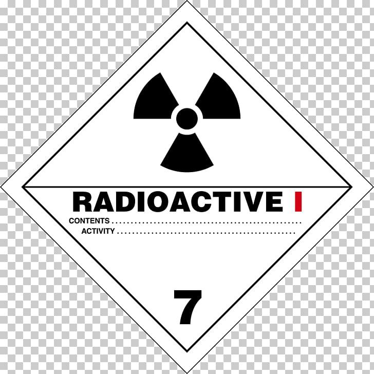 HAZMAT Class 7 Radioactive substances Dangerous goods.