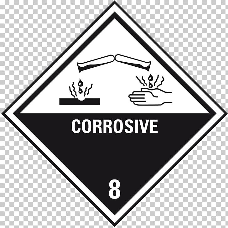 HAZMAT Class 8 Corrosive substances Paper Dangerous goods.