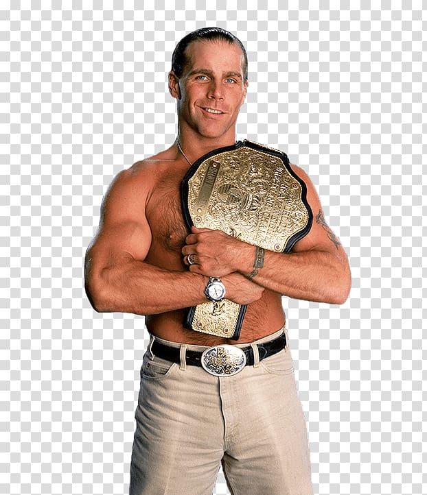 HBK holding WWE belt, Shawn Michaels Belt transparent.