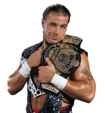 Shawn Michaels Holding Belt and Smiling transparent PNG.