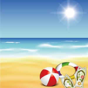 Best Summer Resort And Beach Rest Objects Vector Clipart Draw.