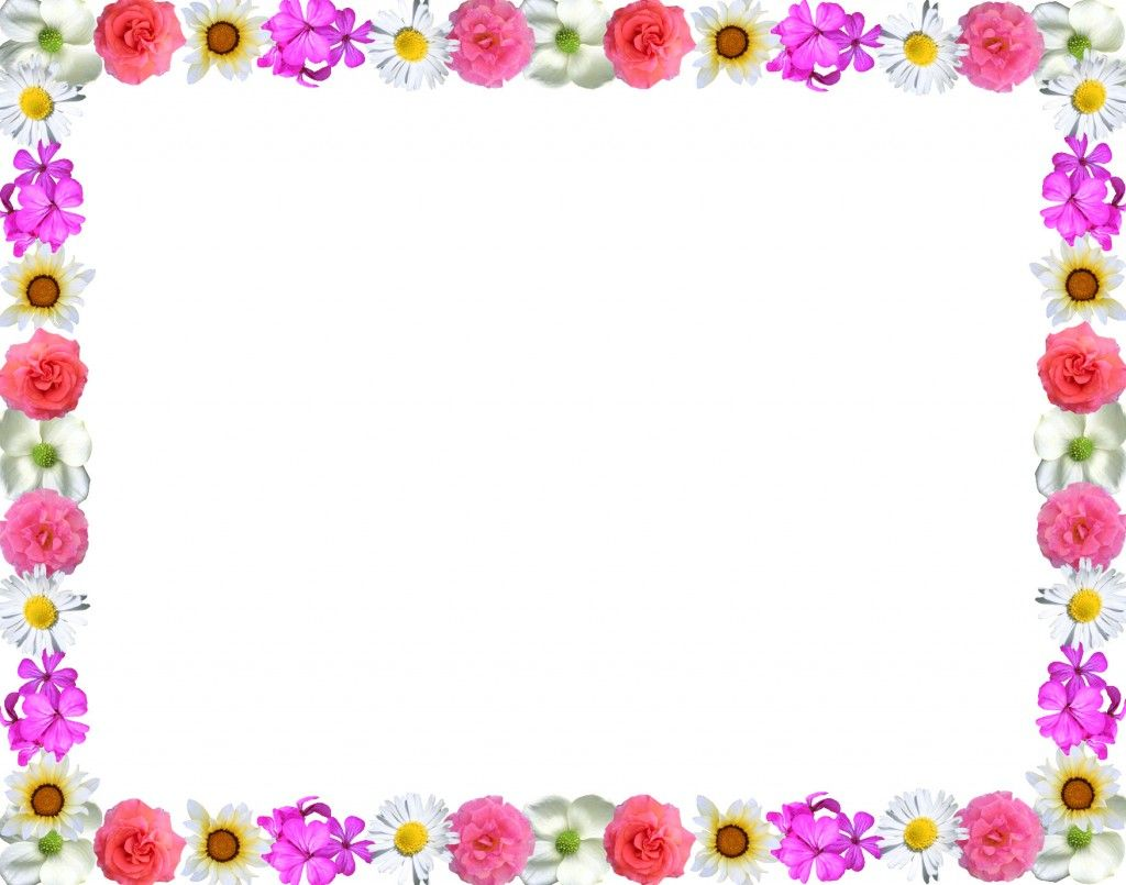 Different Colorful Floral Page Border Design HD sadiakomal.