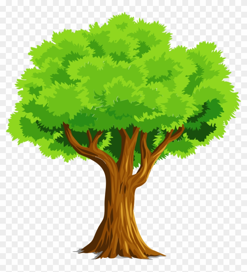Colorful Natural Tree Vector Clipart.