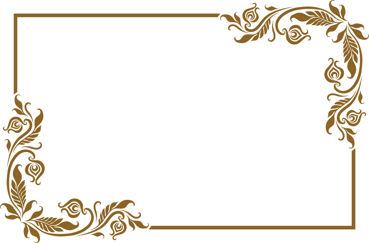 Download Picture Frame Lovely Old Golden Free Download PNG HD.