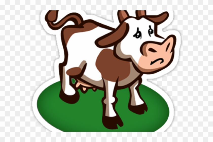Cattle Clipart Sad.