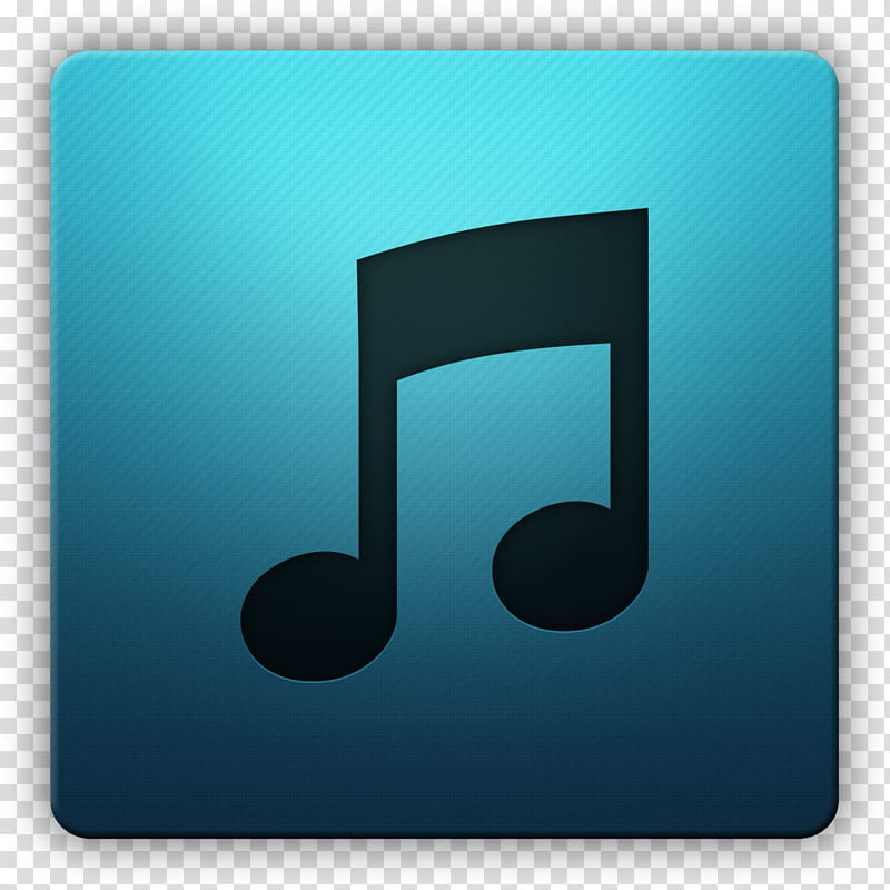 Clean HD Icon II, Music, blue music player icon transparent.