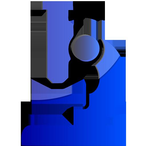 Microscope blue clipart image.