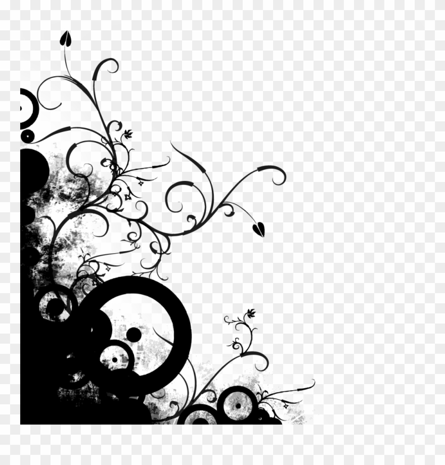 Black Abstract Lines Png Background Image.