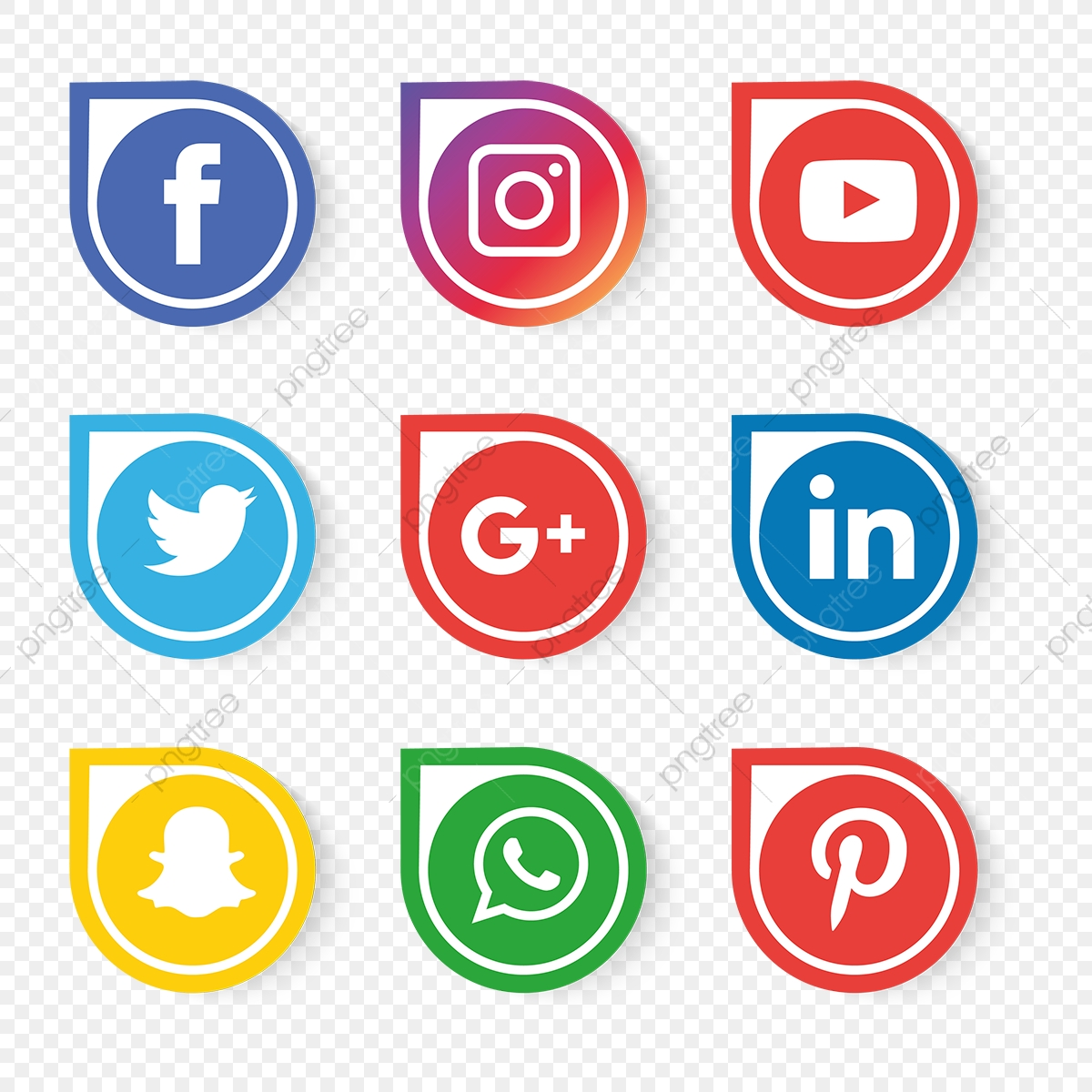 Social Media Icons Set Vector, Social Media Icons, Social Media.
