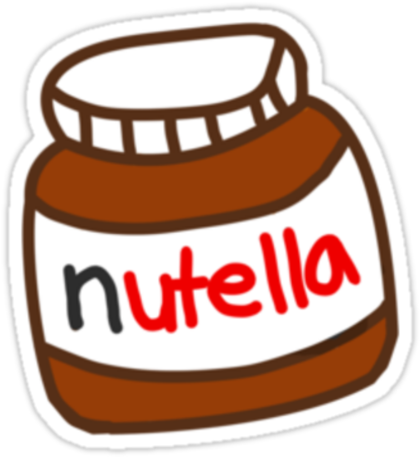 HD Nutella Tumblr Stickers Of Nutella.