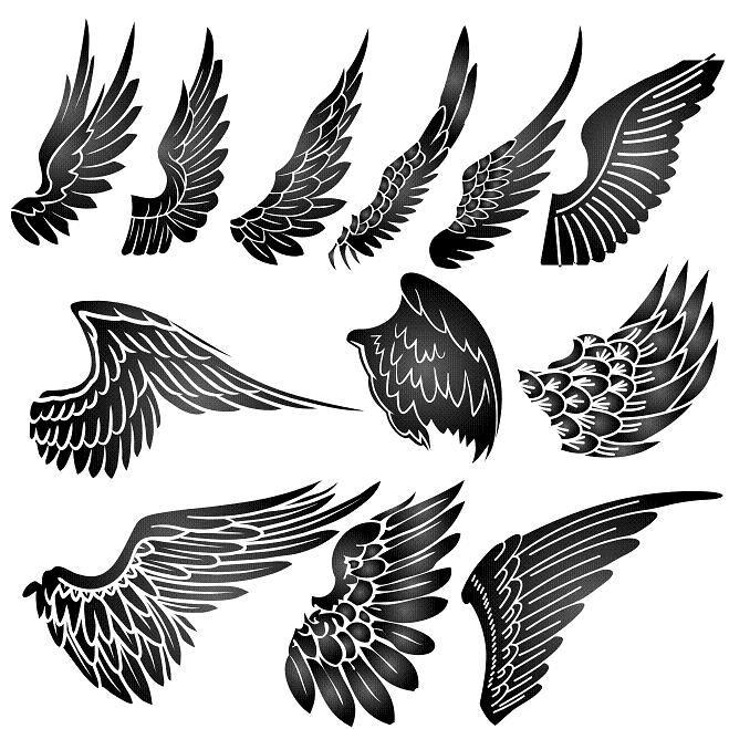 male angel wing tattoos.