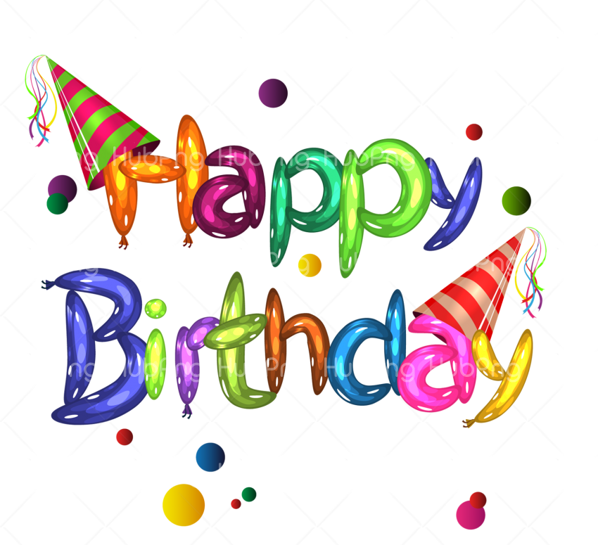 happy birthday png clipart hd Transparent Background Image.