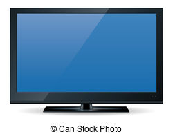 High definition television Illustrations and Stock Art.