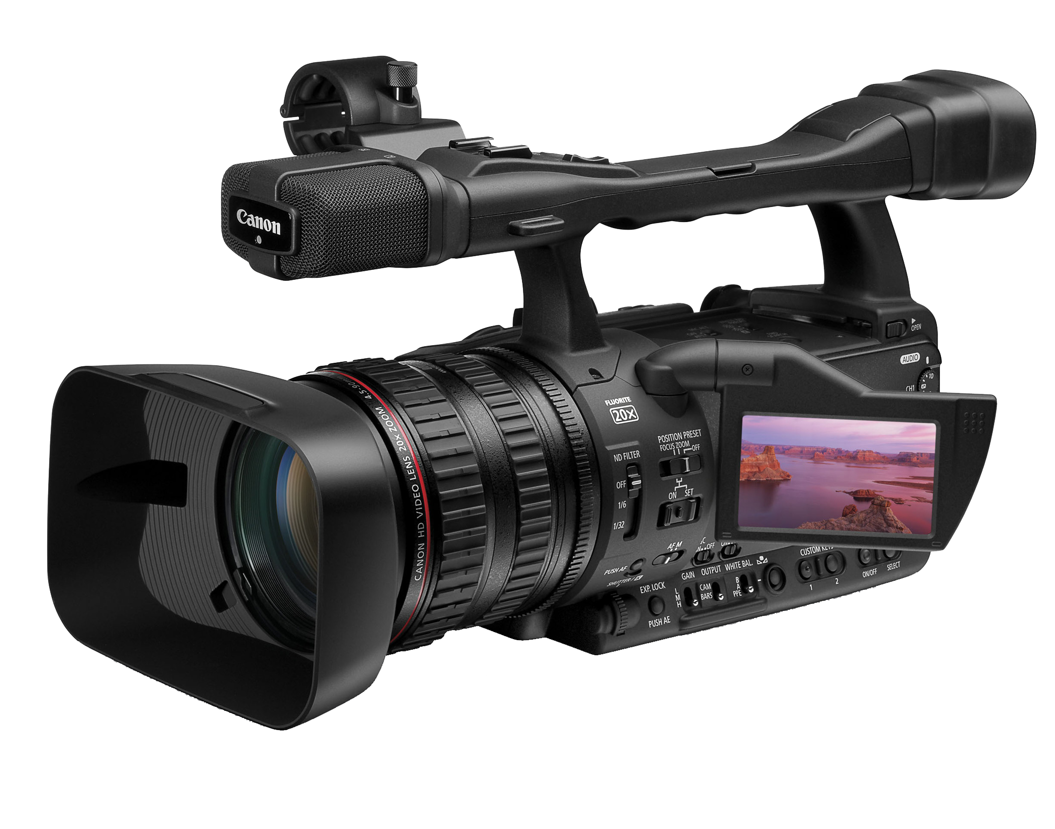 Download Professional Video Camera PNG Image.