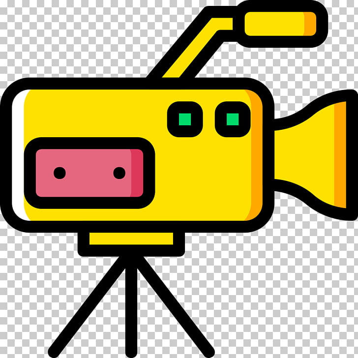 Video camera Scalable Graphics Icon, Yellow HD Camera Icon.