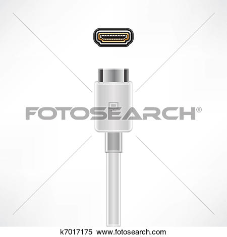 Clipart of HDMI Cable k7017175.