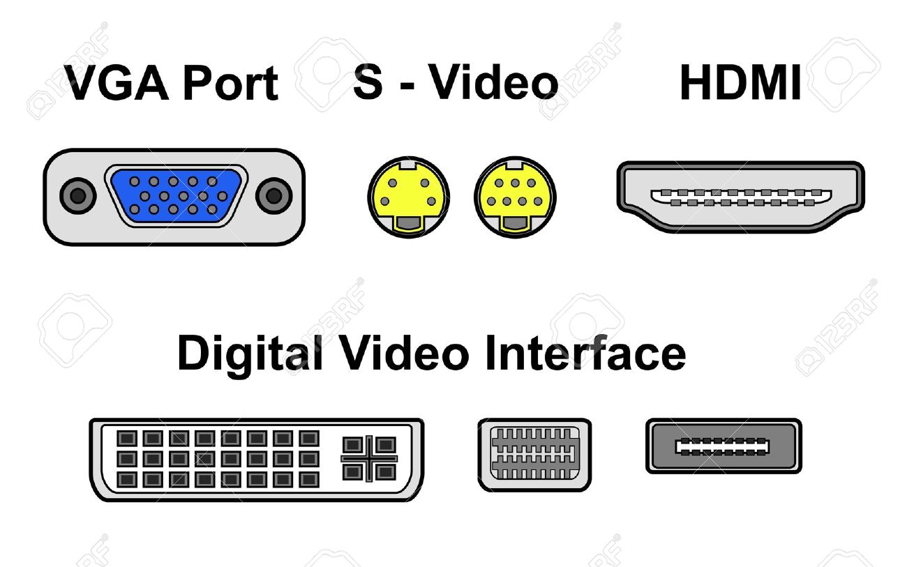 Video Ports Royalty Free Cliparts, Vectors, And Stock Illustration.