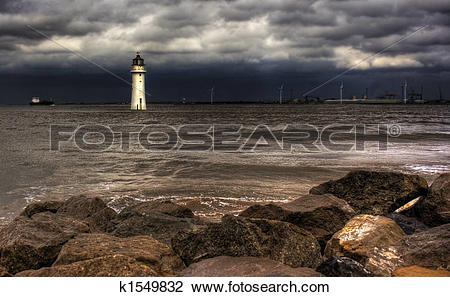 Stock Photo of Lighthouse hdr k1549832.