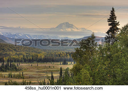 Stock Photography of Taken just south of Denali National Park.