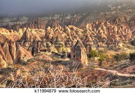 Stock Photograph of Cappadocia HDR photography k11994879.