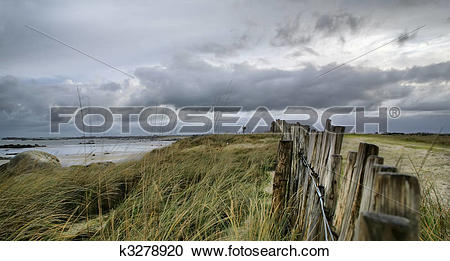 Stock Photography of Ocean in storm, France, Hdr k3278920.