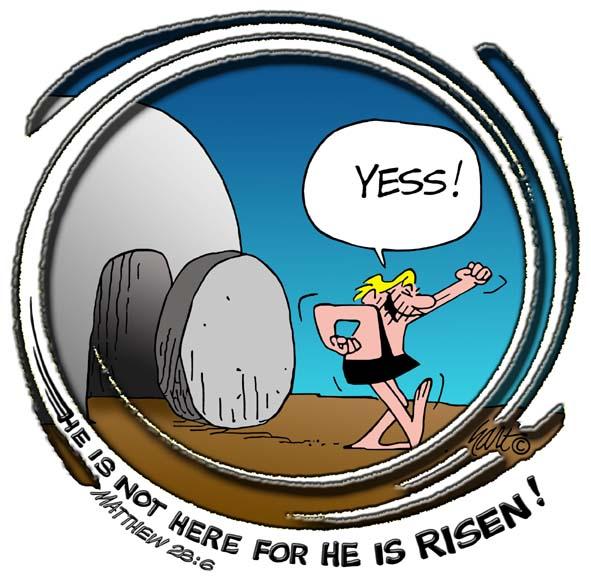 He is Risen Closeup.