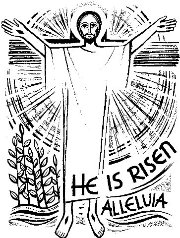 Free He Is Risen Clipart Black And White, Download Free Clip.
