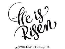 He Is Risen Clip Art.