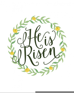 Easter He Is Risen Clipart.