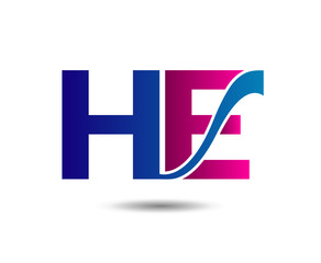 e and H, eh logo vector.