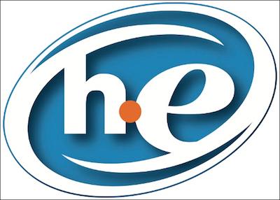 HE logo.