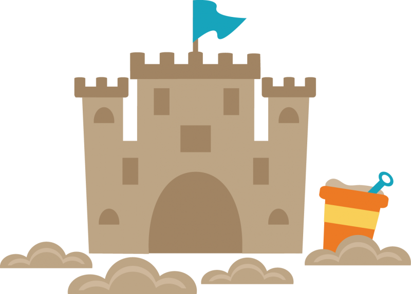 We love sandcastles clipart.