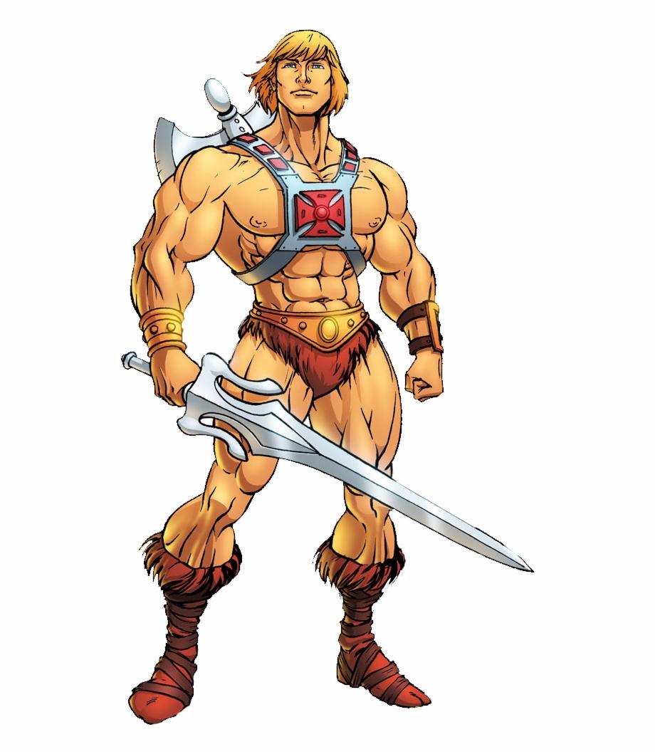 Transparent Muscles Cartoon Man Standing.
