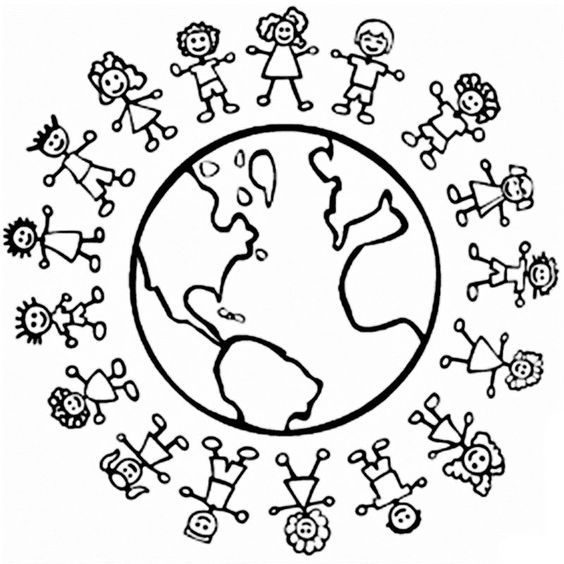he\'s got the whole world in his hands coloring pages.