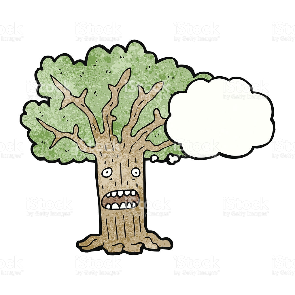 Tree With Thought Bubble Cartoon stock vector art 478351671.