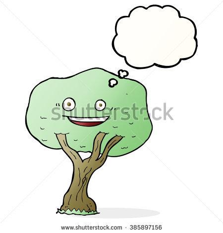 Cartoon Unhappy Tree Stock Vector 273773804.