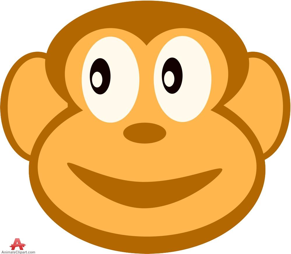Monkey Head Clipart.